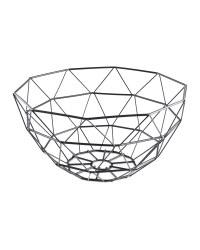 Kirkton House Black Wire Basket