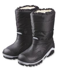 Crane Black Snow Boots
