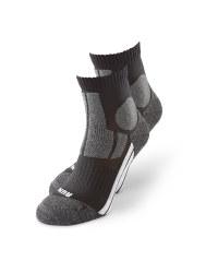 Black/Grey Ankle Socks 2 Pack