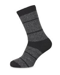 Black/Grey Heat Socks Size 6-8