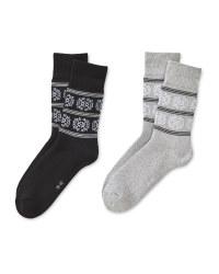 Black/Grey Mountain Socks 2 Pack