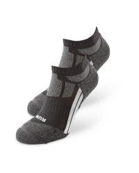 Black/Grey Trainer Socks 2 Pack