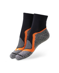 Black/Orange Cycling Ankle Socks