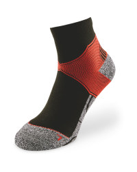 Black/Red Ankle Trekking Socks