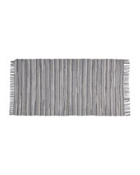 Grey Tasseled Chindi Rug
