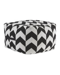 Black/White Chevron Bean Cube