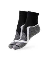 Black/White Cycling Ankle Socks