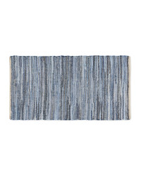Denim Striped Chindi Rug