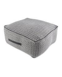 Black/White Diamond Floor Cushion