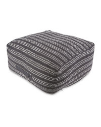 Black/White Striped Floor Cushion