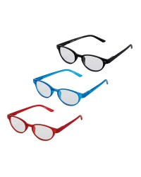 Round Frame Reading Glasses 3 Pack