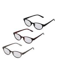 dc660999ef61 Round Reading Glasses 3 Pack - ALDI UK