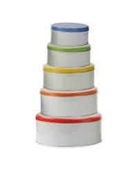 Block Colour Nested Storage Tins