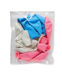 Blue, Pink & White Balloons