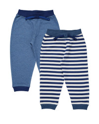 Blue & Navy Stripe Joggers