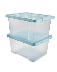Blue 20L Storage Box 2 Pack