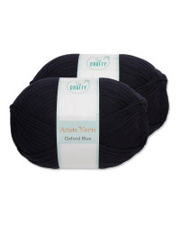 So Crafty Blue Aran Yarn 2 Pack