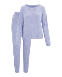 Avenue Ladies' Blue Loungewear Set