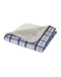 Blue Check Cosy Pet Blanket