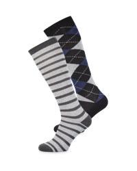Blue Diamond Long Boot Socks 2 Pack