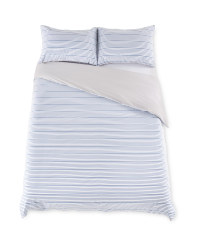 Blue Double Cotton Rich Duvet Set