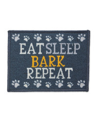 Blue Eat Sleep Bark Feeding Mat
