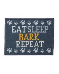 Blue Eat Sleep Bark Feeding Mat