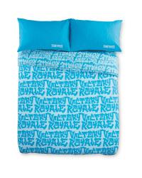 Blue Fortnite Double Duvet Set