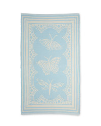 Blue Framed Butterfly Rug