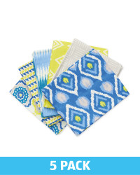 Blue Ikat Fabric Fat Quarters