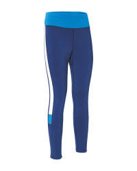 Blue Ladies' Running Tights