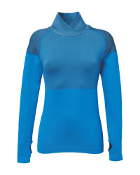 Blue Ladies' Seamless Running Shirt