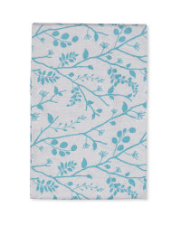 Blue Leaves Fabric Panel