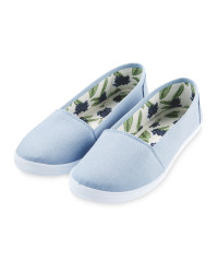 Avenue Ladies' Blue Palm Pumps