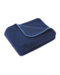 Blue Sherpa Fleece Pet Blanket