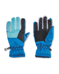 Crane Blue Ski Junior Winter Gloves