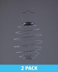 Blue Solar Spiral Light 2 Pack
