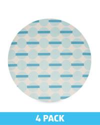Blue Spot Bamboo Plates 4 Pack