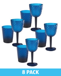 Blue Wine Glass & Tumbler Set