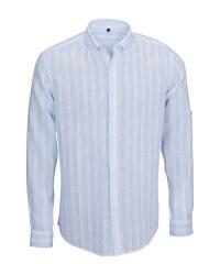 Men's Stripe Linen Blend Shirt