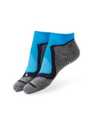 Blue/Black Cycling Trainer Socks