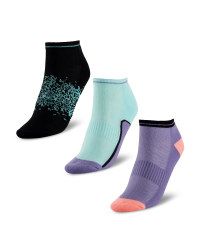 Blue/Purple/Black Trainer Socks