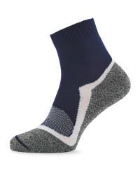Crane Blue & White Sport Socks