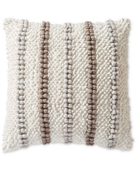 Bobble Detail Woven Cushion - Grey