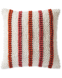 Bobble Detail Woven Cushion - Orange