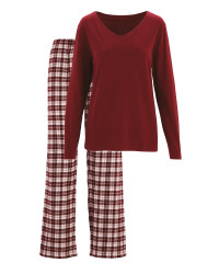 Bordeaux Ladies' Flannel Pyjamas
