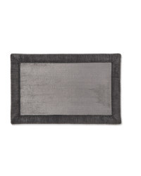 Border Memory Foam Bath Mat - Slate