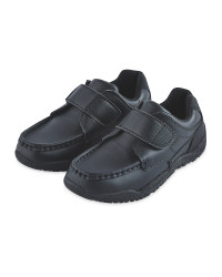 Boy's Action Black Leather Moccasins