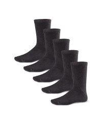 Boys' Ankle Socks 5 Pack - Black