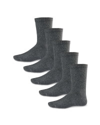 Boys' Ankle Socks 5 Pack - Charcoal